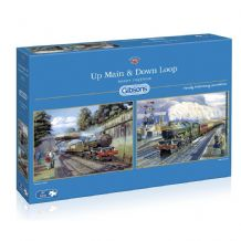 Up Main & Down Loop - 2 x 500 piece  Jigsaw Puzzles